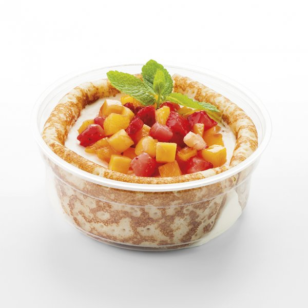 crêpes aux fruits et mascarpone