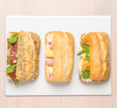 Le Club Mini-sandwichs JAMBON & CHEVRE & BOEUF