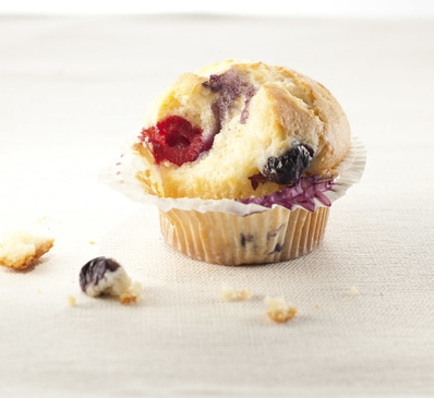 Muffin fruits rouges